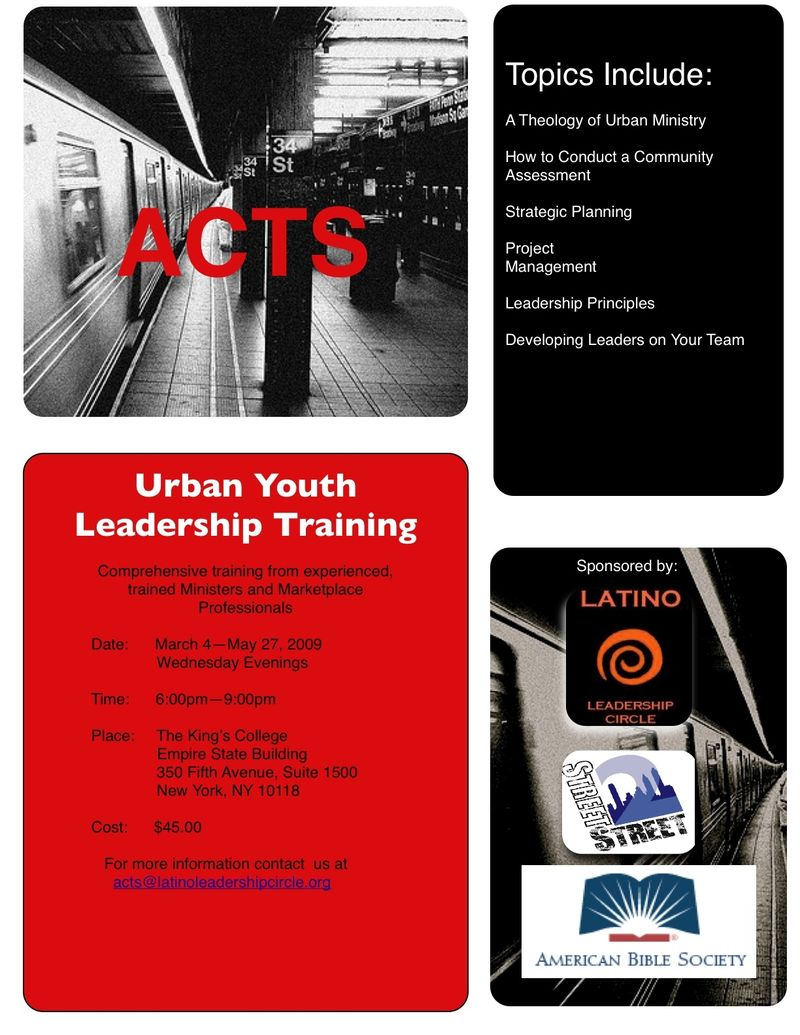 ACTS Flyer 2009